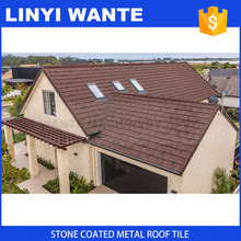 ISO90001 Certified Light weight colorful stone coated metal roof shingles OEM