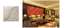 kinds of leather 3d wallpaper decorative wall panels -certificated factory by SGS