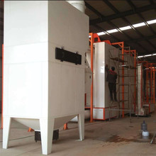 Powder coating line with automatic fast color change equipment