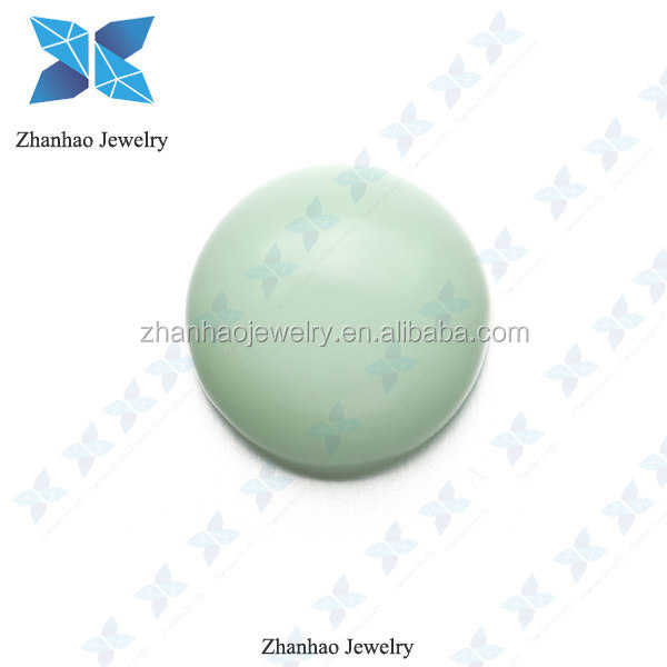 alibaba express lab created flat bottom glass stone loose cabochon crystal