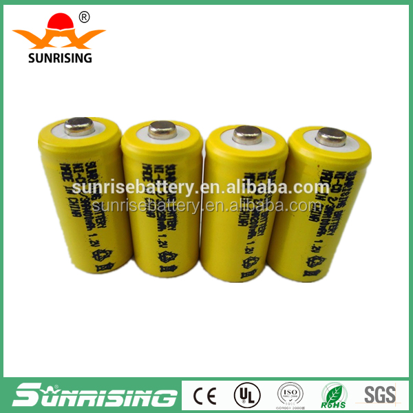 AA Ni-Cd 1.2V 2/3AA 400mAh rechargeable battery pack NiCd Batteries