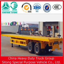 40ft flatbed container carry cargo flated truck with twist locks