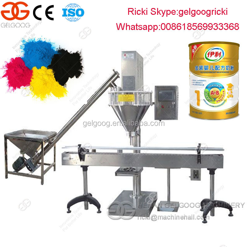 Automatic glass bottle soda powder filling machine