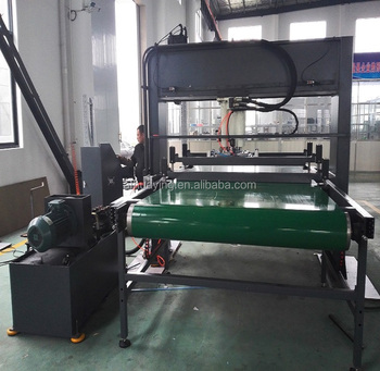 30T Hydraulic travel head abrasive belt cutting machine