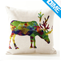 Running Deer modern printed beautiful floor cheap cushion pillow cases