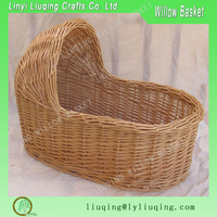 wicker baby moses carrier basket
