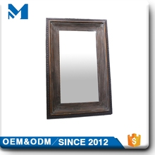 Length Wooden Bathroom Hanging Wall Mount Corner Mirror