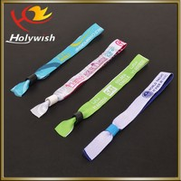 Good textile woven wristband with one time using lock for local event