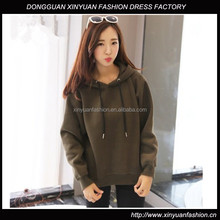 Latest Women Fashion Plain Fleece Pullover Hoodies Ladies Custom Thick Plain Hoodies