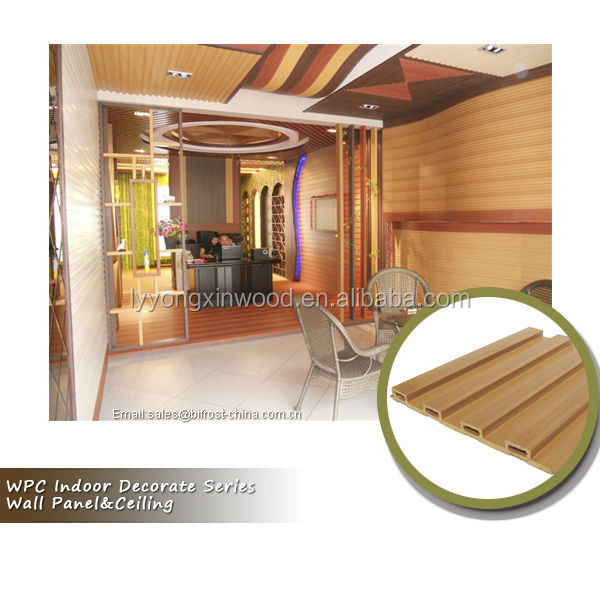 Promotional sale wpc wall decor panel, pvc wall panel, wood plastic composite ceiling