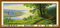 Chinese natural 3d landscape painting famous acrylic landscape paintings made by number