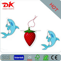 new products with best quality air freshener for car (fish shape, paper air freshener)