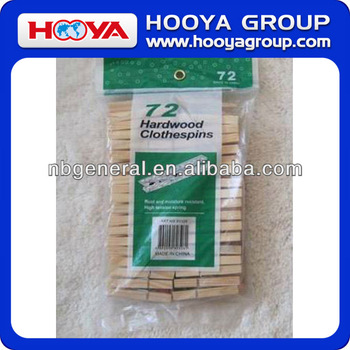 72pcs hardwood wooden cloth pegs