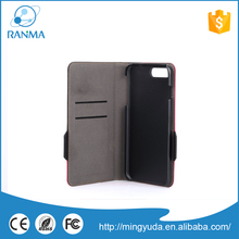 Alibaba China supplier PU leather wallet mobile phone case for iPhone 7
