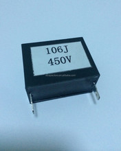 106J 450V Black Plastic Box Metallized Polypropylene film Capacitor CBB21-B (MPB)