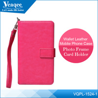 Veaqee 4.3 inch china cell phone leather wallet protect case for smartphone