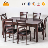 popular wooden dining table and chairs