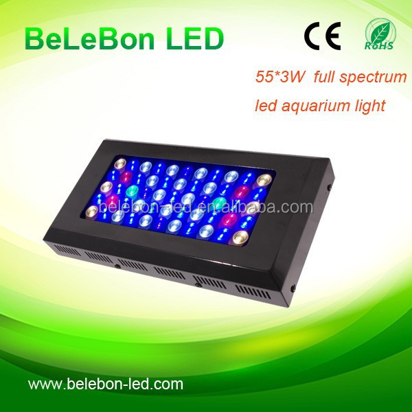 China Wholesale 220V 165watt full spectrum LED Aquarium Light with lens