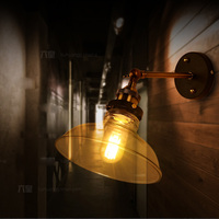 Loft Style Edison Vintage Industrial Lamp Wall Lights with Glass Shade Wall Sconce,Arandela Lamparas De Pared