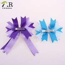 elastic band hair bows with clips