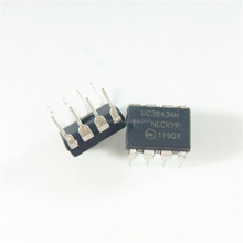 Buck, Boost, Flyback, Forward Converter Regulator Positive, Isolation Capable Output Step-Up, Step-Down, St UC3843AN DIP8 UC3843