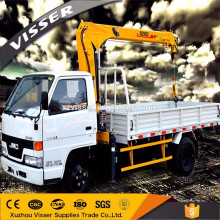 High quality 2 ton telescopic boom mini truck mounted crane