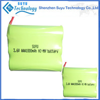 nimh 3.6v aa 2200mah rechargeable battery pack