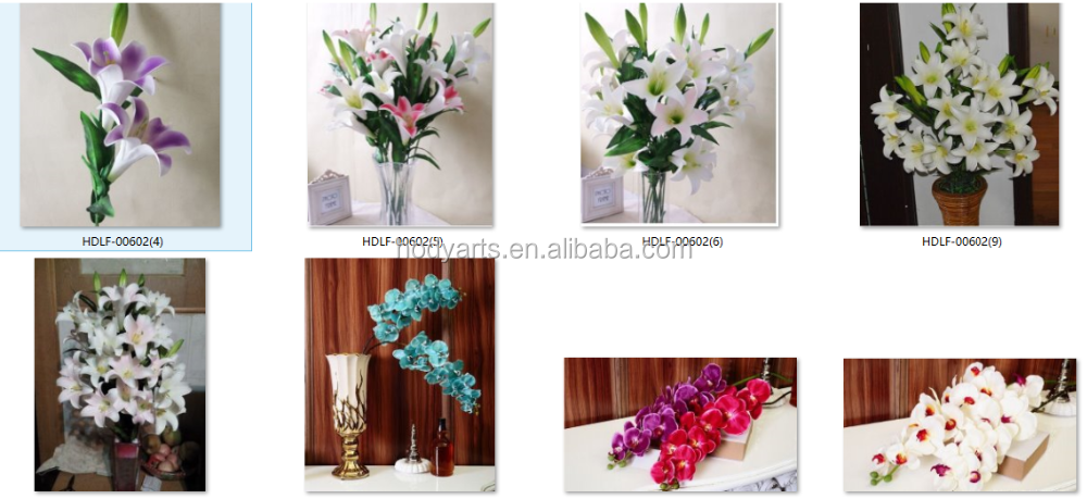 Wholesale New Design and High Quality Decorative Artificial Flower Making