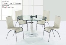 latest expandable oval glass top marble base dining table