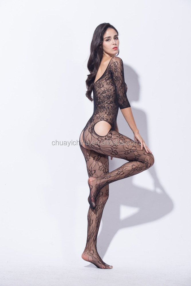 No bondage easy to wear fishnet tight woman's sexy bodystocking