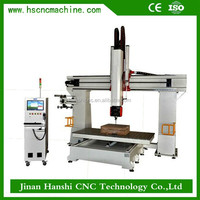 Jinan Hanshi 5axis real estate models 1212 multi function carving cnc router