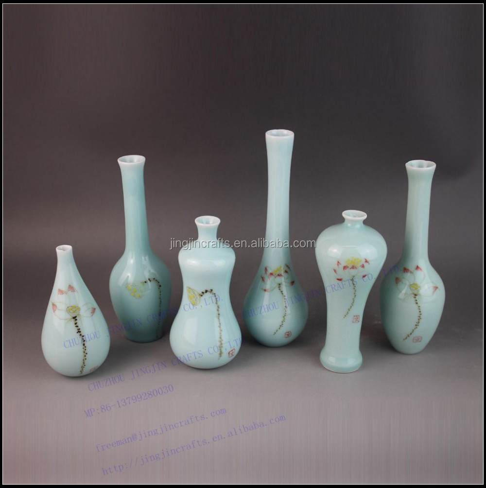 Europe and America blue series mini ceramic and stoneware vase