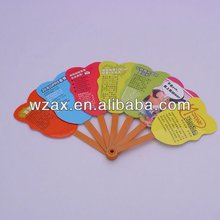 promotion gift foldable fan recycle pp