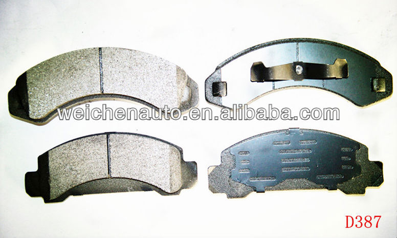 brake pads for 7125A-D387 with semi-metallic or ceramic material auto spares parts