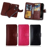 Business style 9 card slots wallet leather case for LG G5 with strong magnet