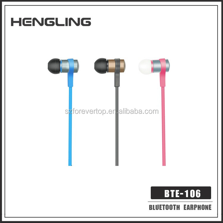 new unique cool multi colour wireless bluetooth earbud for sports and relax BTE-106