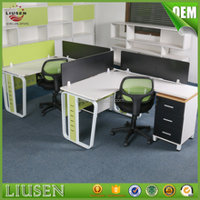 Made in China high quality open office furniture systems modular office table for 4 person