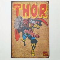 The Mighty Thor Retro Rustic Tin