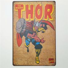 The Mighty Thor Retro Rustic Tin Metal Sign