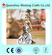 new design polyresin Africa black woman figurine for sale
