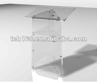 modern shape acrylic lectern pulpit