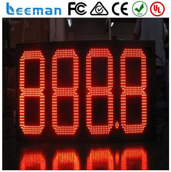 oil price and litres transparent led display dot matrix led display sign