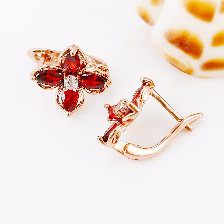 G4 Beautiful luxury design flower crystal earring for sale
