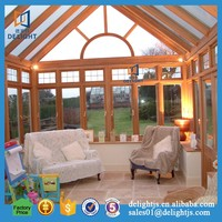 Fashionable Design Customized Size Double Low-E Glass Aluminum Sunrooms
