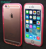 Call Flash Hybrid Colorful Bumper TPU Clear Back Phone Case Cover For iPhone 4,for iphone 6/s