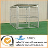 6'x8' galvanized steel tube dog kennel with roof shelter and 1 dog runs
