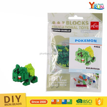 Hot sale pokemon lepin building blocks high quality lovely mini toys for kids puzzle block