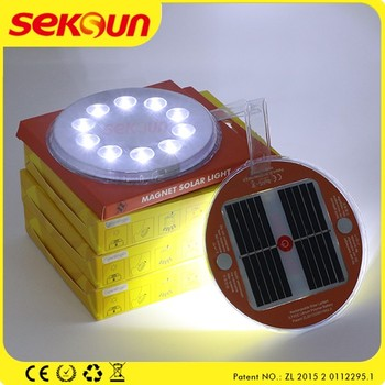 workable illumination magnet home wall lights IP67 outdoor solar for 3.7v led light