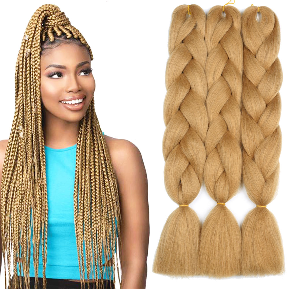 Wholesale Synthetic Braiding Hair Blond Online Buy Best Synthetic