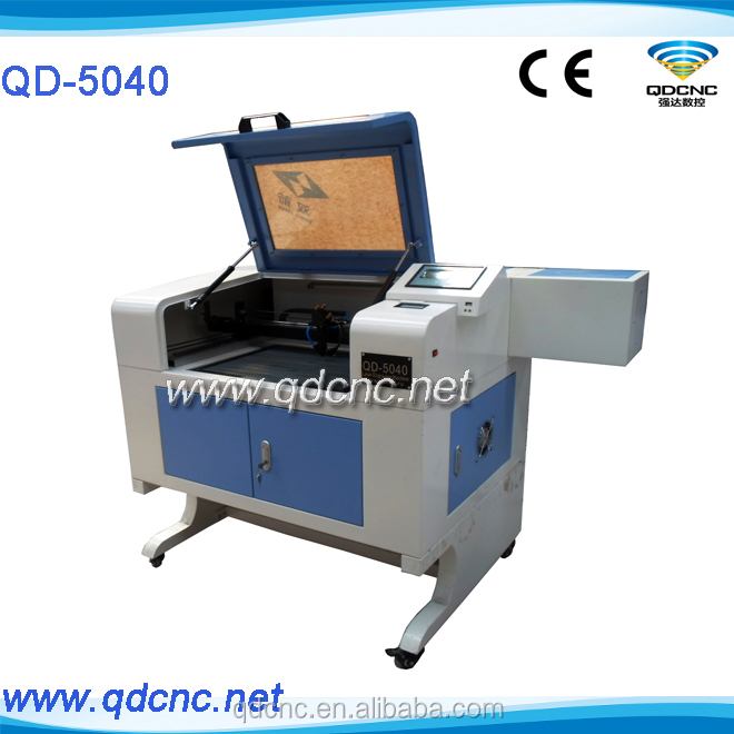 china co2 laser cnc/laser cutting machine price/round wood laser engraving machine QD-5040 skype:qdcnc09